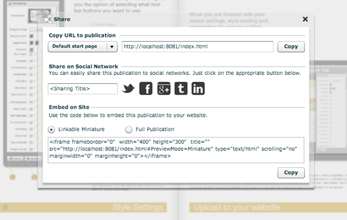 How to share a PDF on social networks like Twitter, Facebook, Tumblr